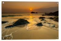 Gold tide St Ives, Acrylic Print