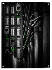 Elevators at The Lloyds Building, Acrylic Print