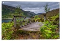 Old Wooden Bridge on the path to Barisdale, Acrylic Print