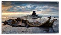 Black Nab and the wreck of the Admiral Von Tromp a, Acrylic Print