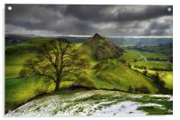 Winter clouds over Parkhouse Hill                 , Acrylic Print