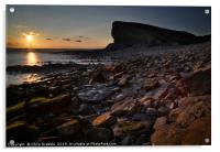 Nash Point at sunset                              , Acrylic Print
