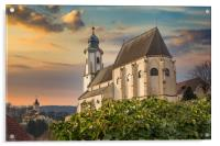 Old church in village of Emmersdorf at the beginni, Acrylic Print