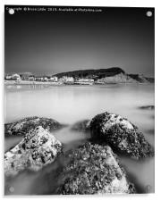 Long exposure of Sidmouth in the afternoon, Acrylic Print