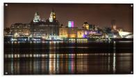 LIVERPOOL WATERFRONT AT NIGHT, Acrylic Print