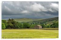 Muker Barn in Swaledale Yorkshire Dales, Acrylic Print
