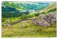View to Rydal Water from Hammerscar Plantation Lak, Acrylic Print