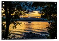 Sunset over Windermere from Millerground Lake Dist, Acrylic Print