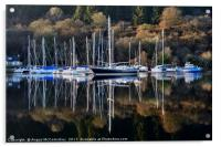 Winter yacht haven on the Crinan Canal, Acrylic Print