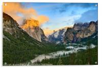 Dramatic View of Yosemite National Park Vista, Acrylic Print
