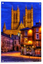 Lincoln Cathedral at Night, Acrylic Print