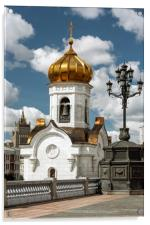 The Cathedral Of Christ The Savior., Acrylic Print