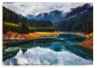 Lake Galbenu in Romania, Acrylic Print