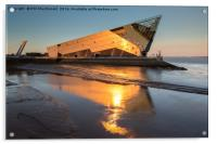 The Deep in Hull, Golden Sunset on the Humber, Acrylic Print