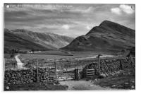 Buttermere in black and white, Acrylic Print