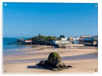 Tenby in Spring., Acrylic Print