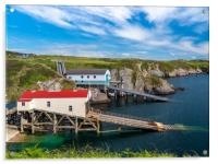 St Justinian's Lifeboat Station, Pembrokeshire., Acrylic Print