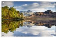 The Langdale Pikes Reflecting, Acrylic Print