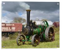 Model Burrell Tractin Engine, Acrylic Print