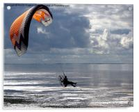 Powered Paraglider, Acrylic Print