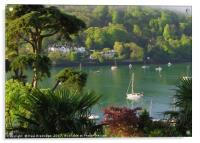 Dart Estuary at Dartmouth from Kingwear, Acrylic Print