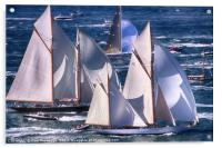 Yachts off The Isle of Wight, Acrylic Print