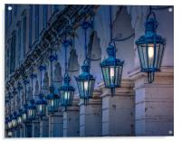Arches and Lamps in Greece, Acrylic Print