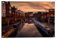 The Canals of Birmingham, Acrylic Print