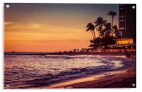 Sunset Moment in Hawaii 0015, Acrylic Print