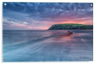 St Bees Beach at Sunset, Acrylic Print