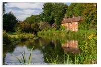 Winchester Itchen River, Hampshire, England, Acrylic Print