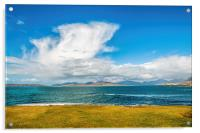 Landscape, Mountains of North Harris, Sound of Tar, Acrylic Print