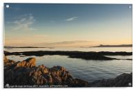 Evening sunlight, Eigg, Ardnamurchan, Sea, Sky, Acrylic Print