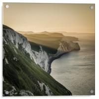 Summer sunrise on the Jurassic Coast in Dorset, Acrylic Print