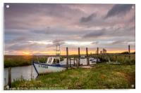 Sunrise at Thornham Staithe, Acrylic Print
