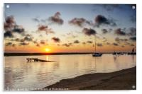 Blakeney Moorings at Sunset, Acrylic Print