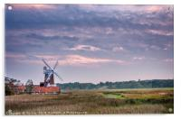 September Evening at the Windmill, Acrylic Print