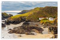 Sunset Kynance Cove Cornwall England UK, Acrylic Print