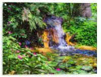 Water Lilies Monet Style, Acrylic Print