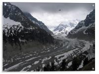 Mer de Glace, french alps, France, Acrylic Print