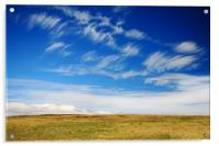 Romantic sky and moorland, Acrylic Print