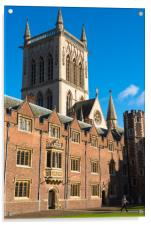 St Johns College and chapel, Acrylic Print