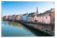 River Wensum at the Quayside, Acrylic Print