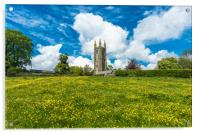 St Pancras Church at Widecome in the Moor, Acrylic Print