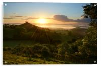 Summer Sunrise at Colmer's Hill, Acrylic Print
