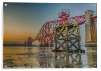 Hawes Pier and the Forth Bridge, Acrylic Print