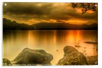 Loch Lomond Sunset, Acrylic Print