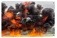 Boeing AH-64 Apache Longbow Attack Helicopter, Acrylic Print