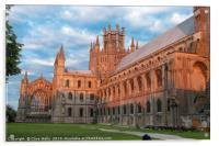 Turning red during the sunset, Ely Cathedral in al, Acrylic Print