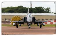 F-4E Phantom just after landing at RAF Fairford re, Acrylic Print